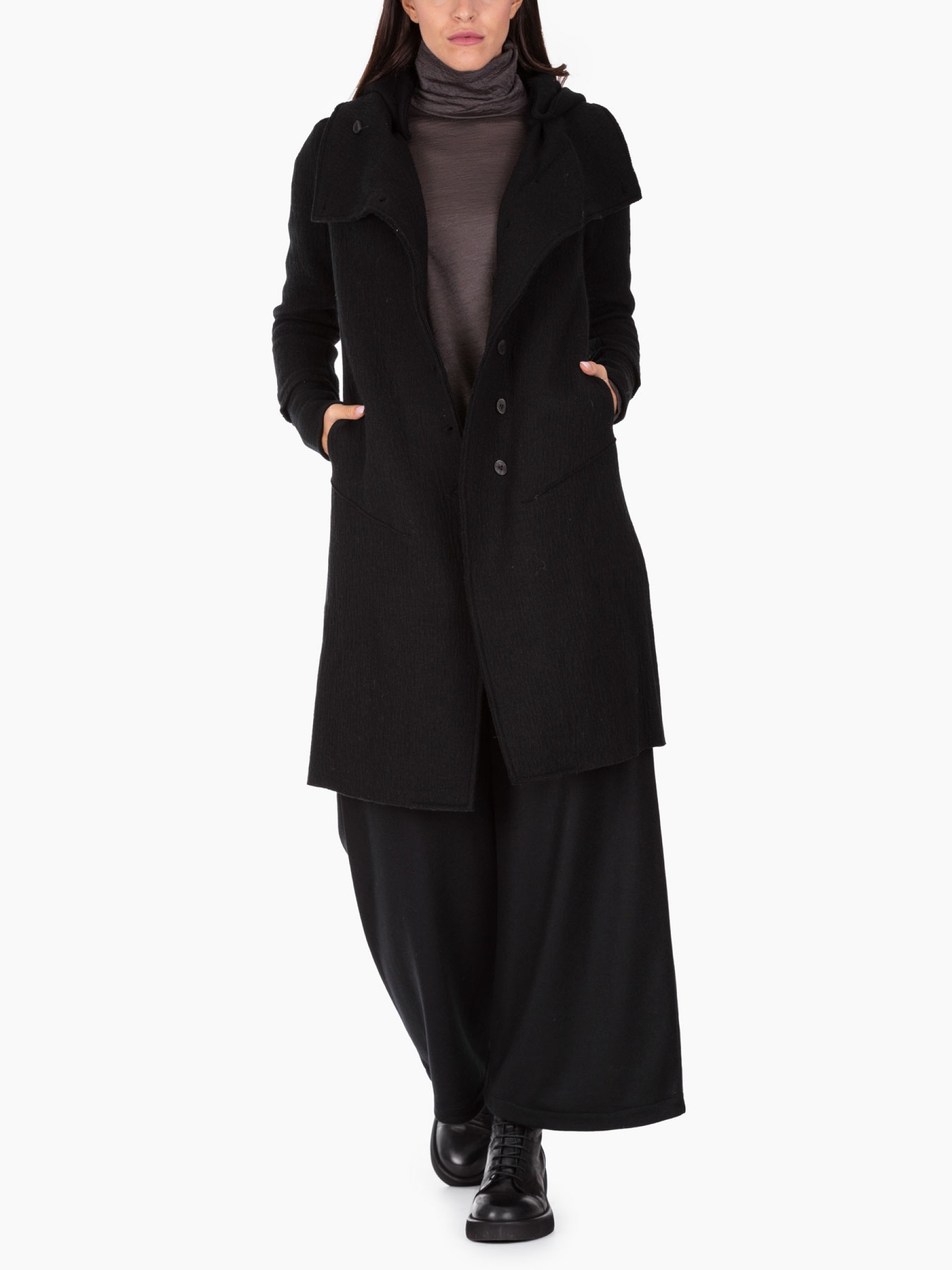 Transit Cappotto in lana AI2020 CFDTRM17521-10-BLACK