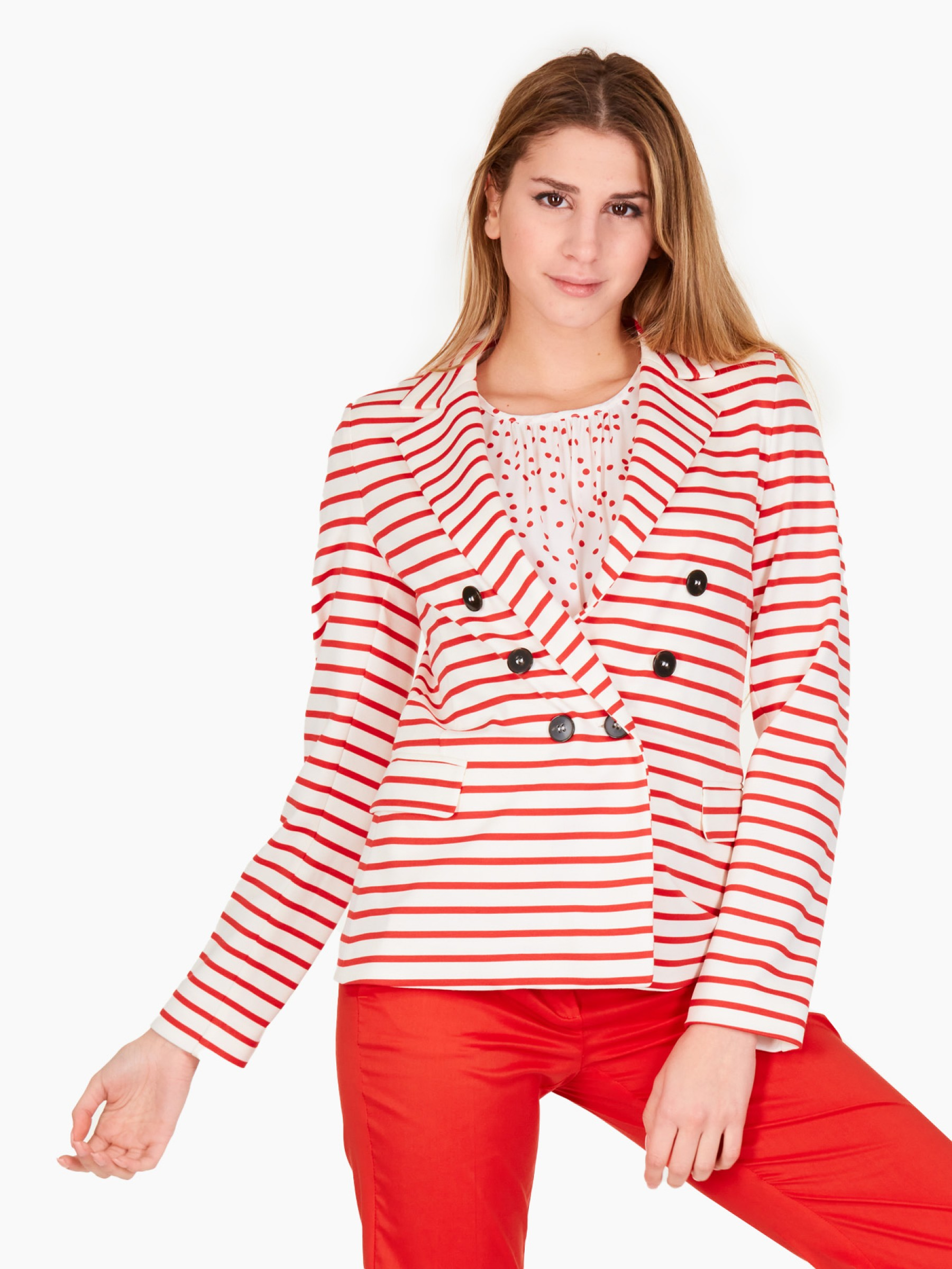 Emme Giacca in jersey PE2021 ISOLA-001-ROSSO-GERANIO