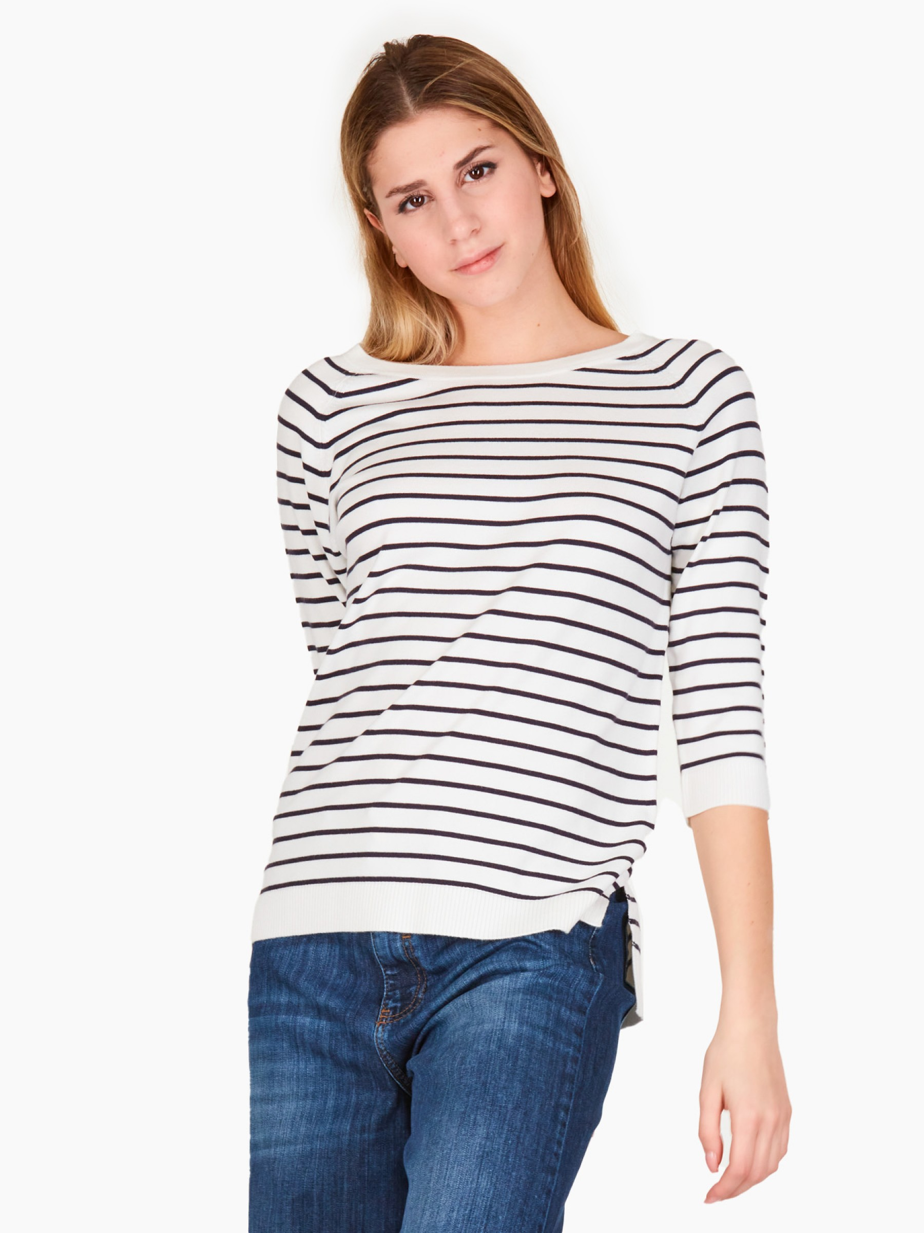 Emme Maglia a righe PE2021 LANCIA-010-NAVY-BIANCO