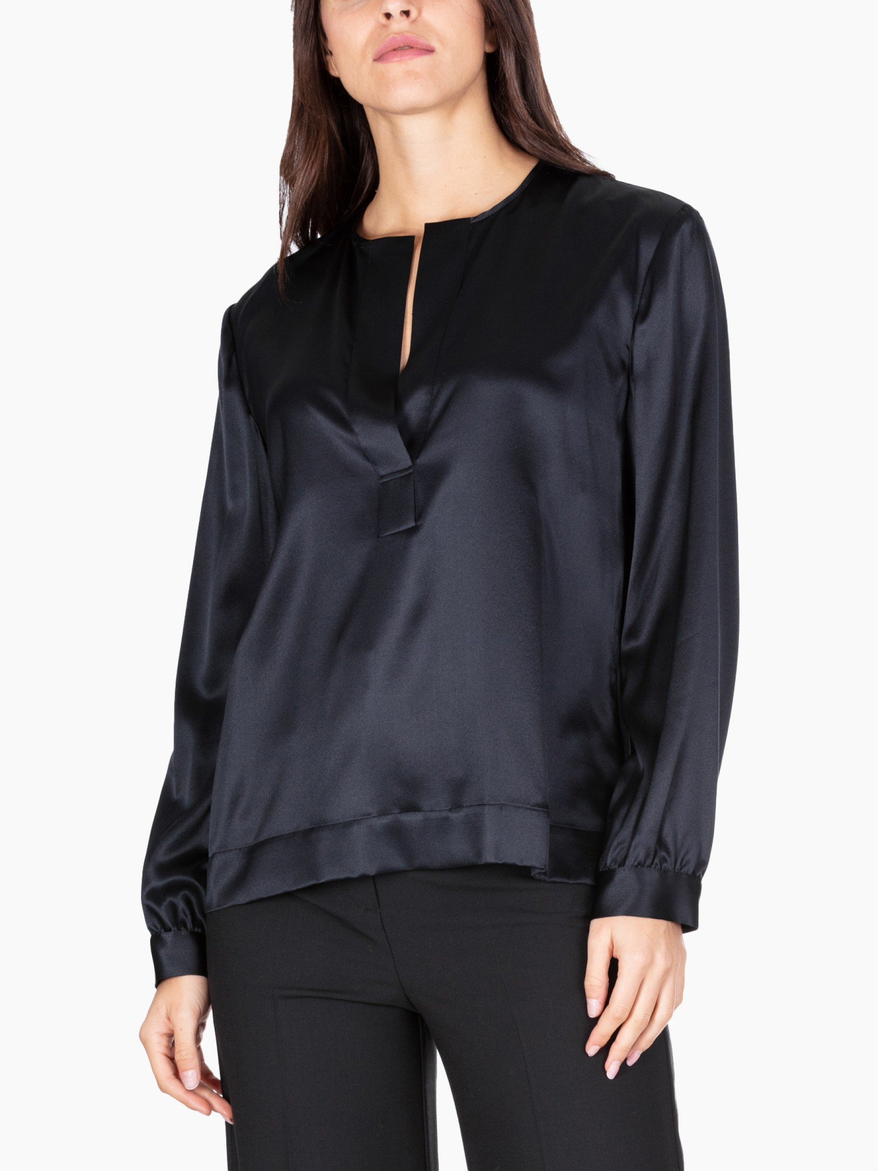 Kaos Blusa in seta stretch AI2020 MI1NT004-0001-NERO