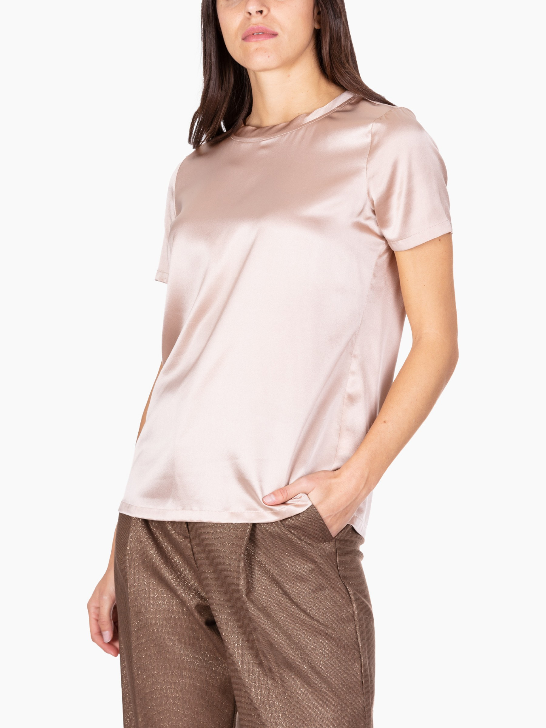 Kaos Blusa in seta stretch AI2020 MI1NT012-1003-NUDO
