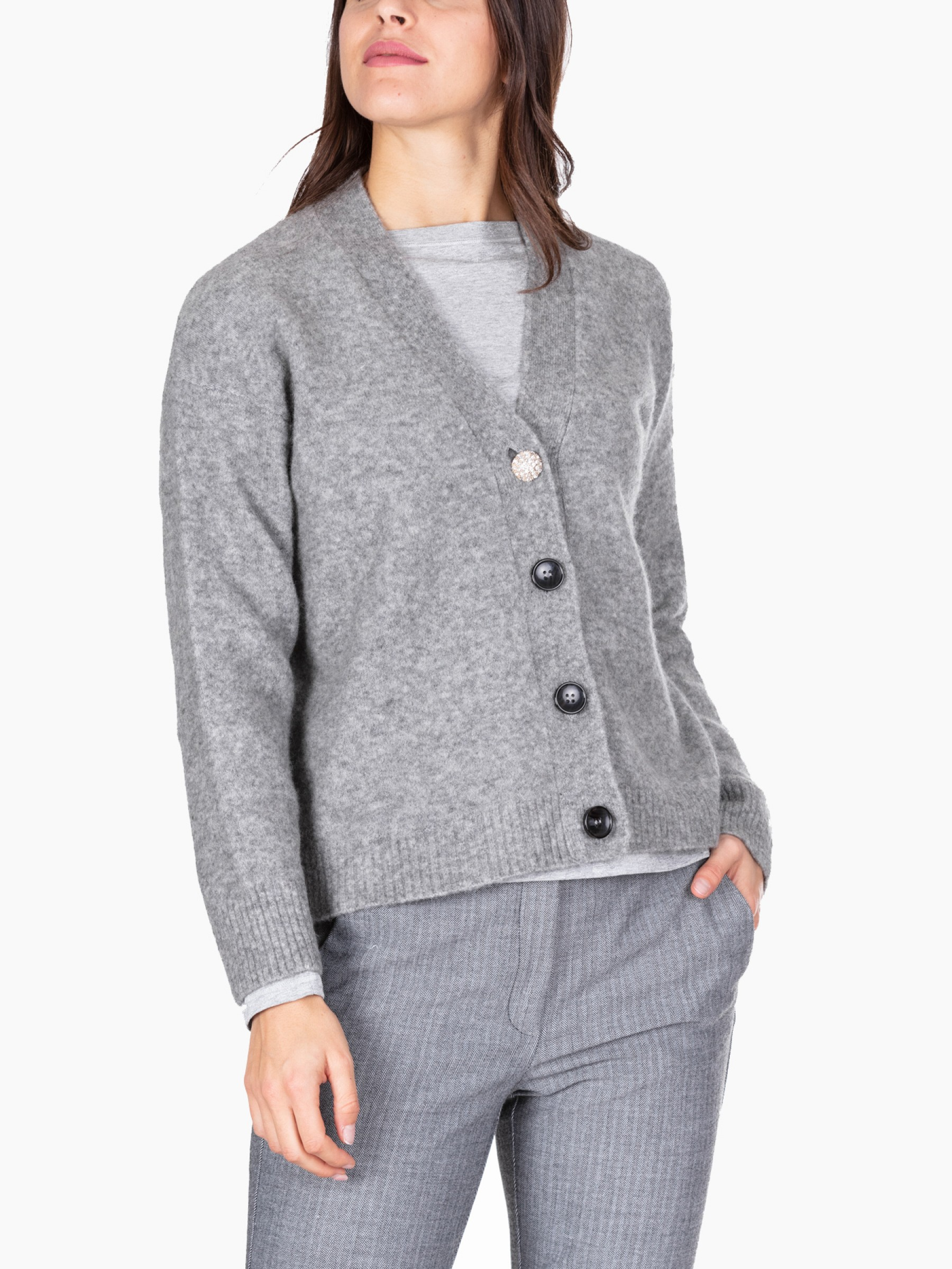 Kaos Cardigan in lana stretch AI2020 MI1NT074-0007-GRIGIO