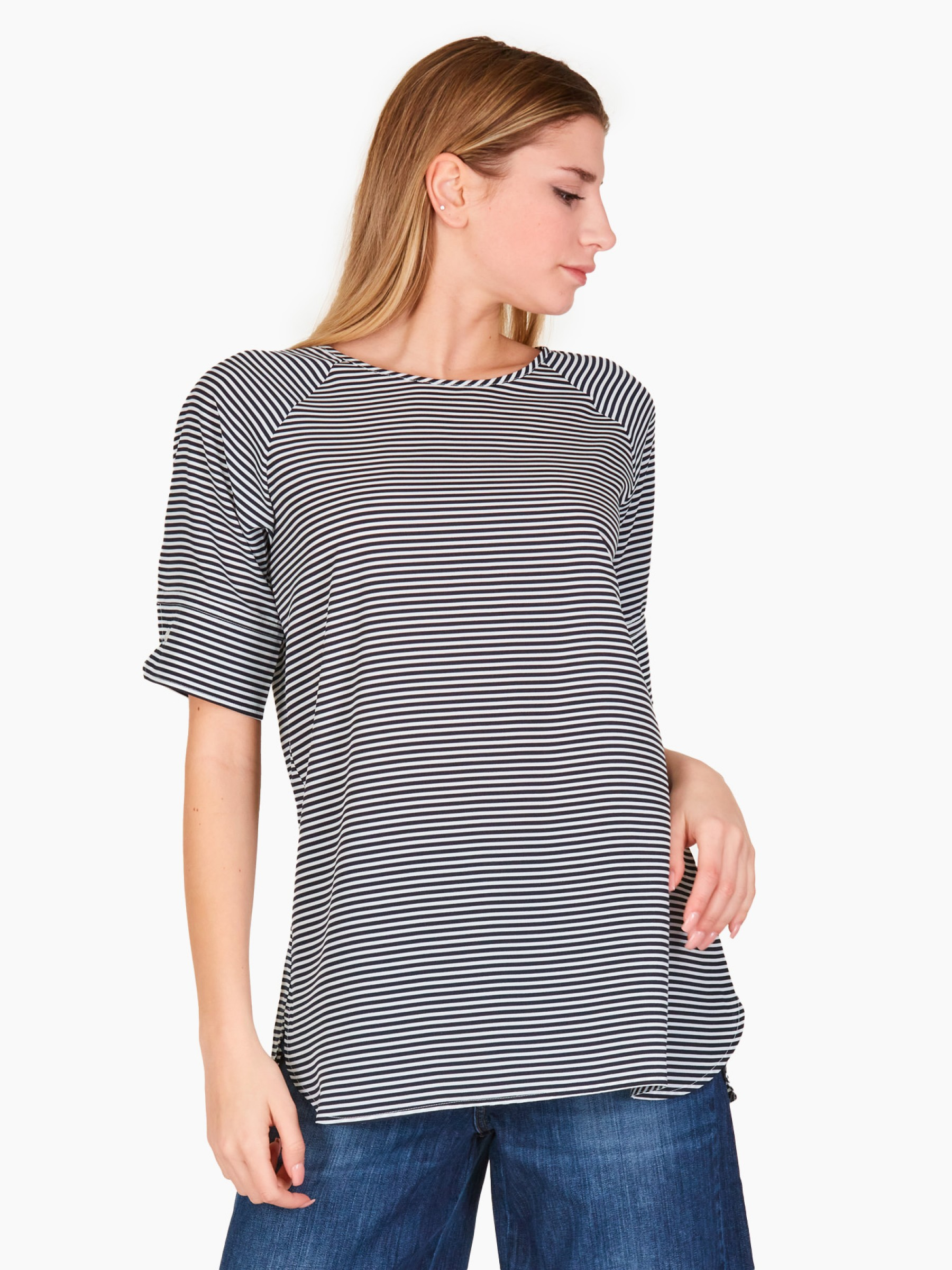 Emme Blusa a righe PE2021 MODELLI-002-NAVY
