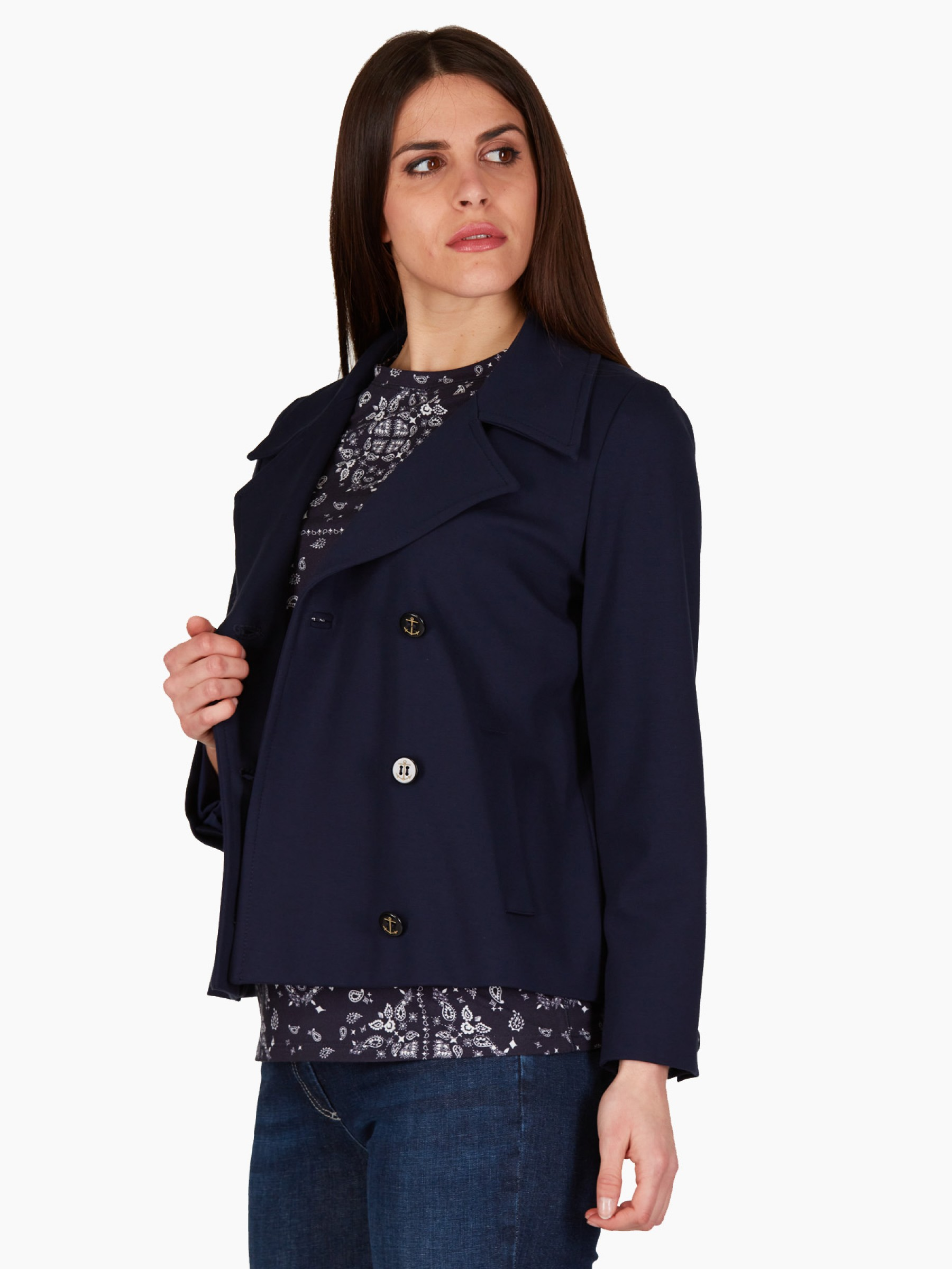 Marella Giacca in jersey PE2021 ORO-001-NAVY