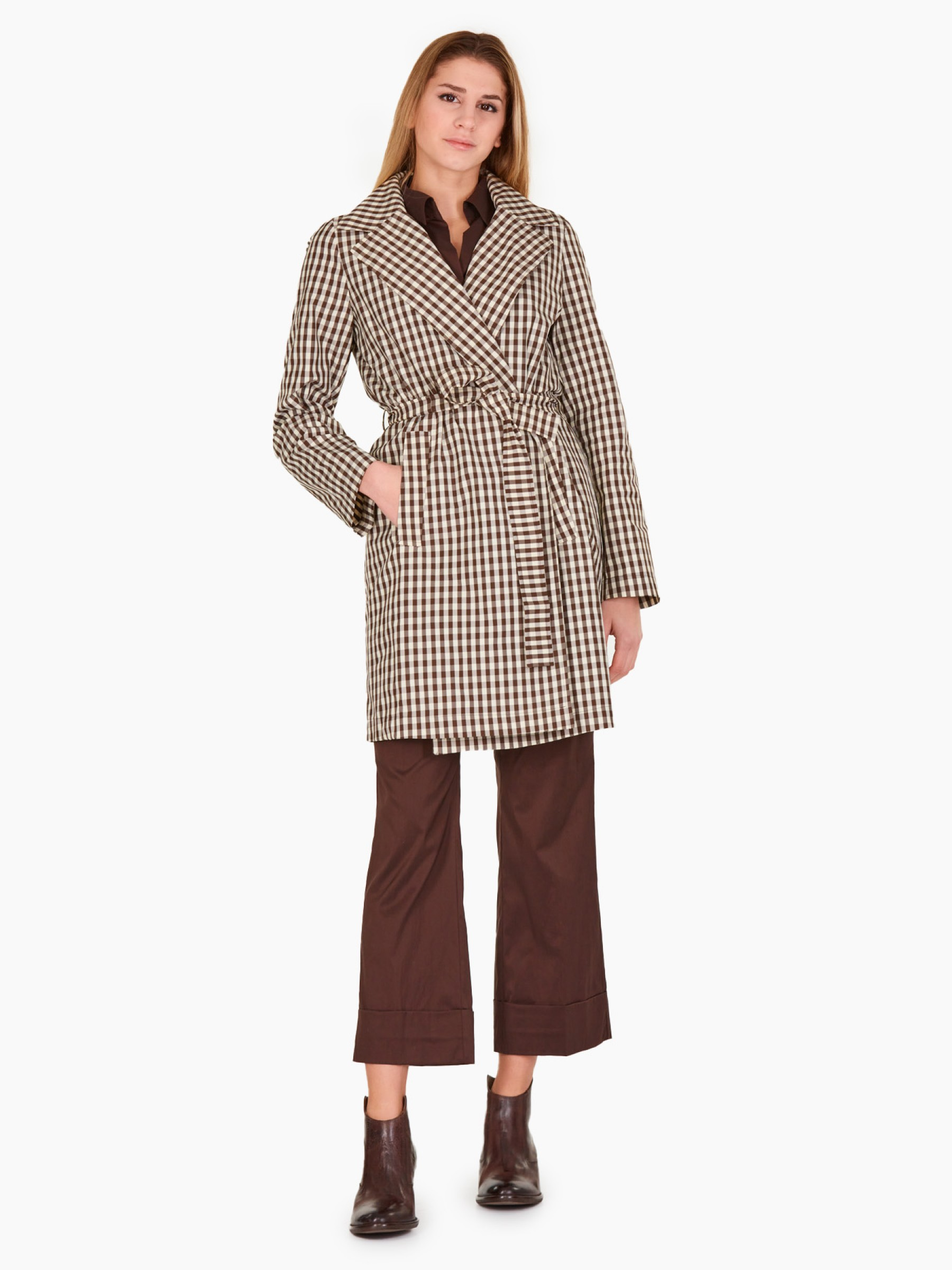 Emme Trench in Vichy PE2021 PRETURA-001-CACAO